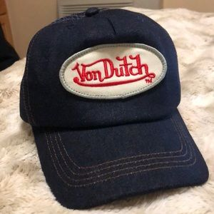 NEVER WORN Von Dutch Denim Trucker Hat